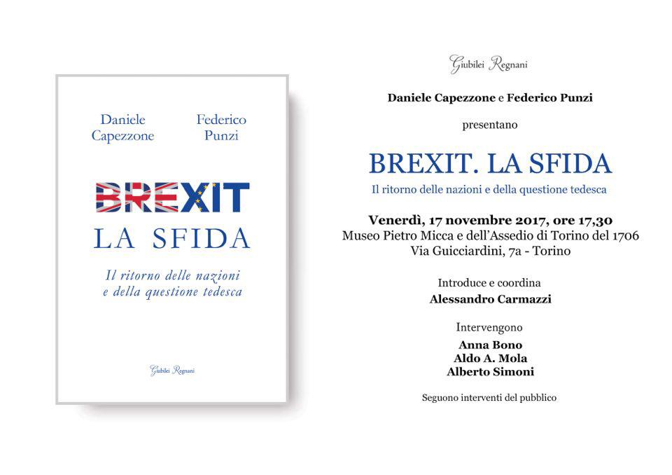 Presentazione del libro BREXIT. LA SFIDA